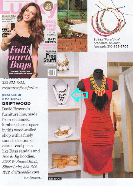 Lucky magazine features a Jenny Dayco necklace