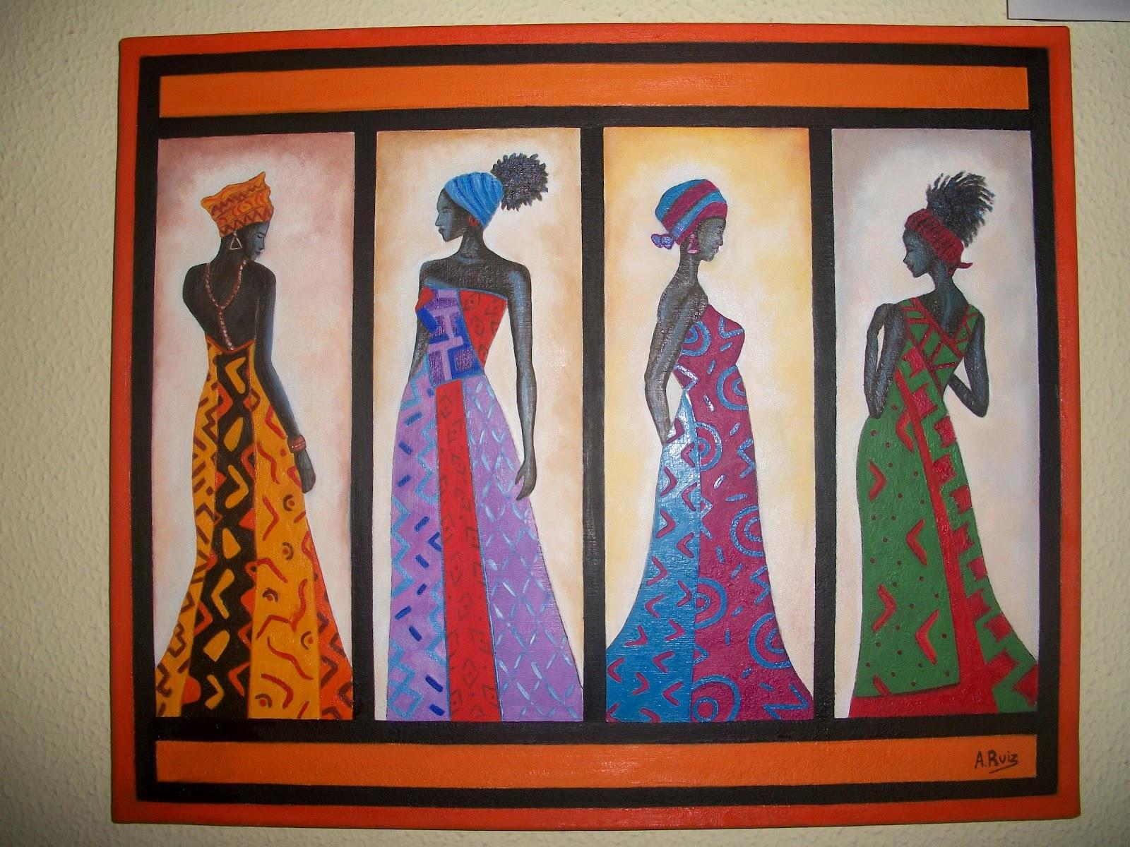 Pintura a leo cuadros africanos - Fotos en cuadros ...