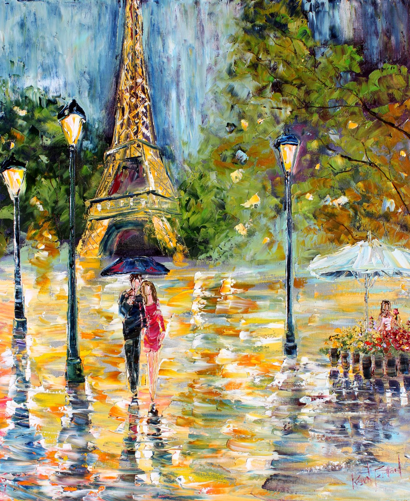 Karen Tarlton - Page 3 Original+oil+painting+Paris+Night+Romance+palette+knife+fine+art+impressionism+by+Karen+Tarlton+eBay+003i