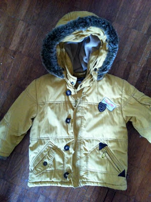 Jean Bourget mustard winter boys parka