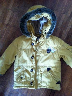 Jean Bourget mustard winter boys parka
