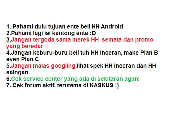 7 Tips Jitu Sebelum Membeli HH Android