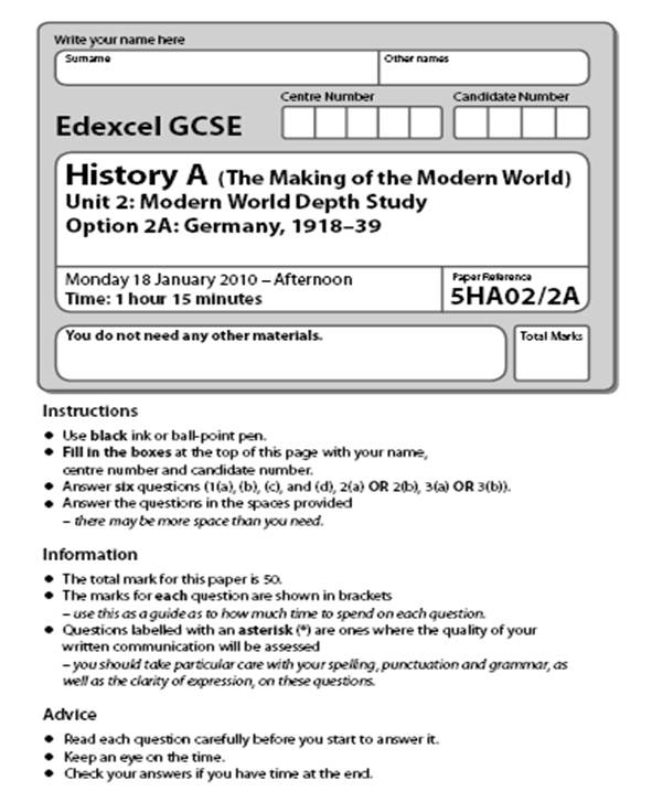 gcse history past papers online Our brand new online gcse history 9-1 course aims to develop your understanding of human activity in the past based on historical evidence you will learn about the.