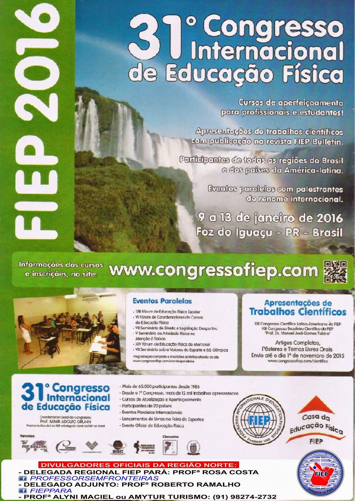 Viva o 31º Congresso Internacional de Educação Física!