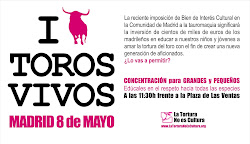 EVENTO 8 MAYO PLAZA DE LAS VENTAS A LAS 11:30, MADRID.