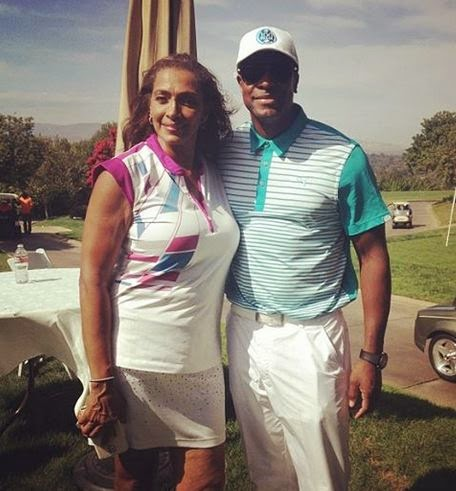 Chris Tucker and Mrs Parker from Friday at the Golf club