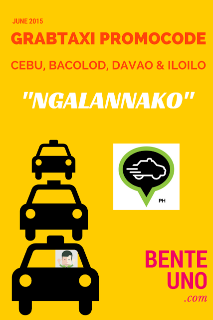 GrabTaxi Promo Code for CEBU this month of June 2015