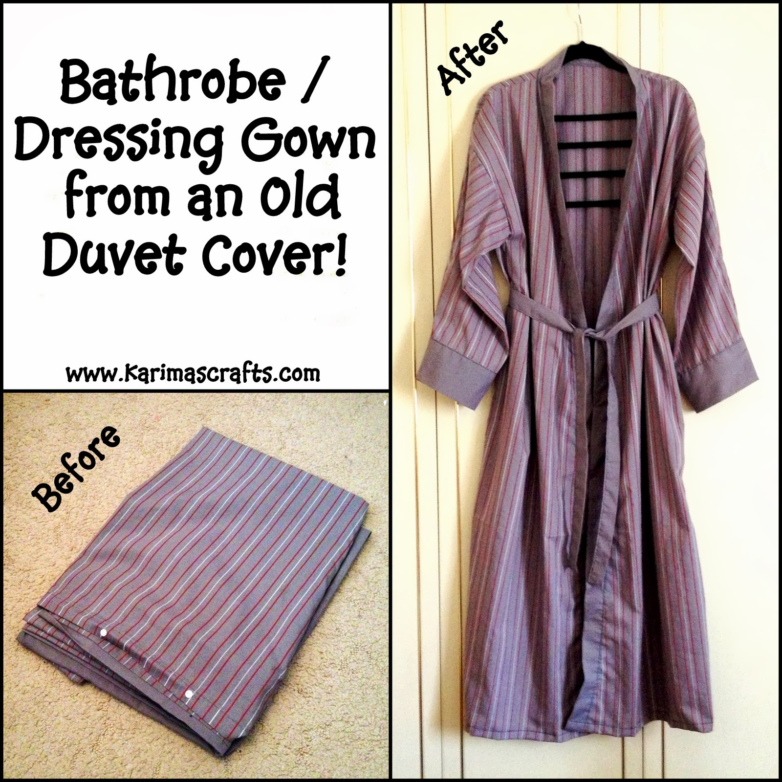Karima\'s Crafts: Bathrobe / Dressing Gown Mini Tutorial