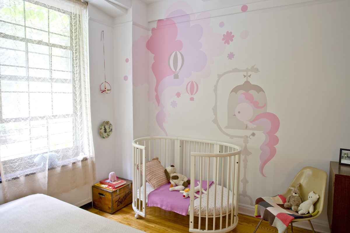 The boo and the boy decals in kids 39 rooms for Fresque chambre bebe
