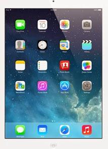 iPad 2 home screen and iOS 7