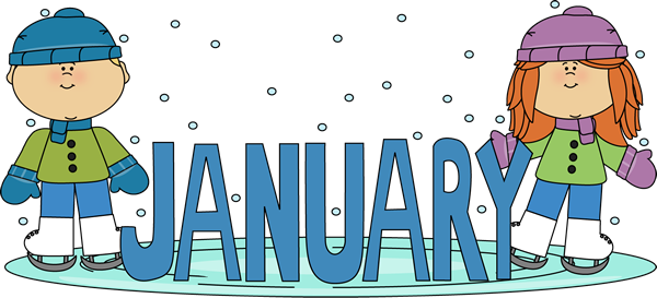 Clip Art Calendar January : Easy way a for children origins of months names