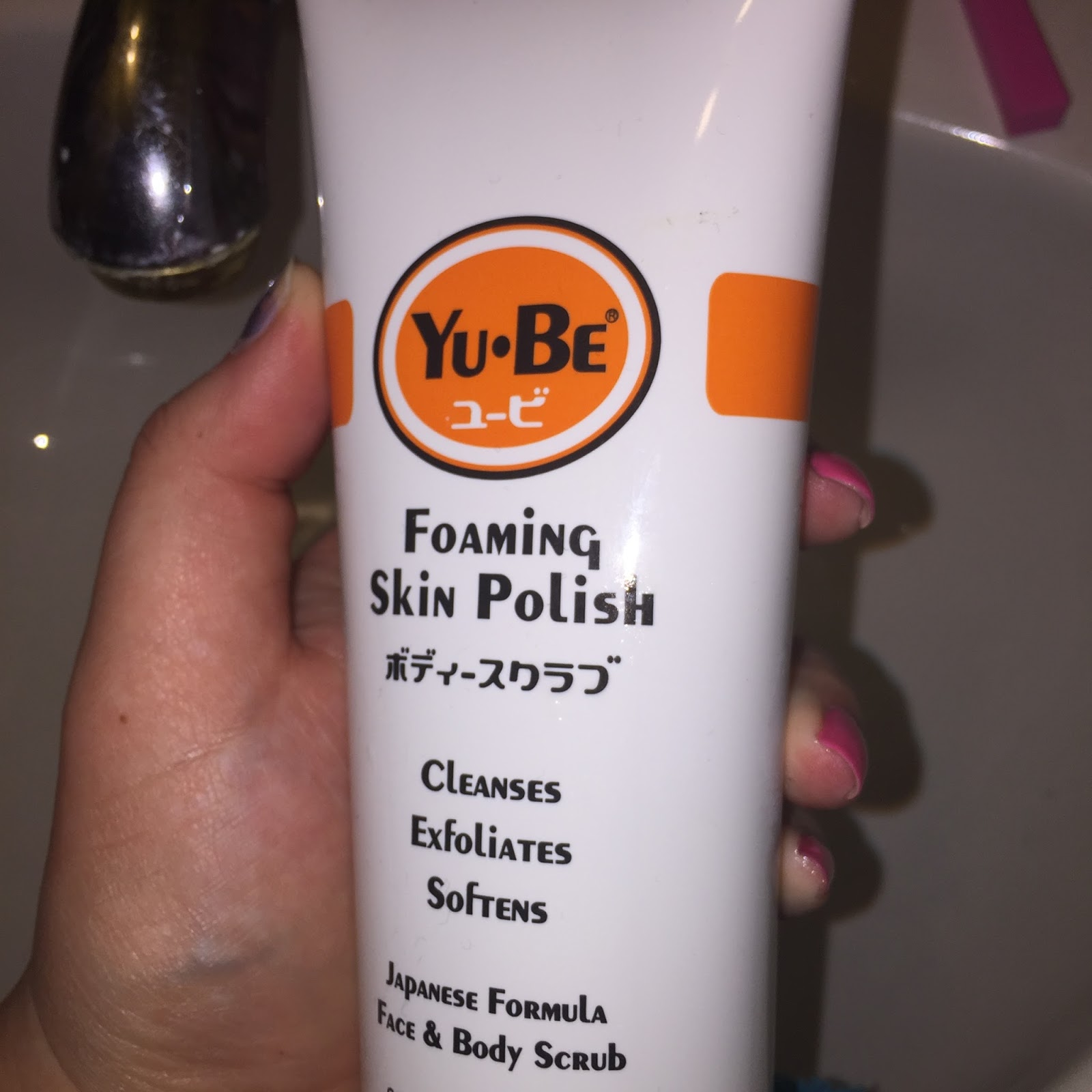 Yu-Be's Foaming Skin Polish.