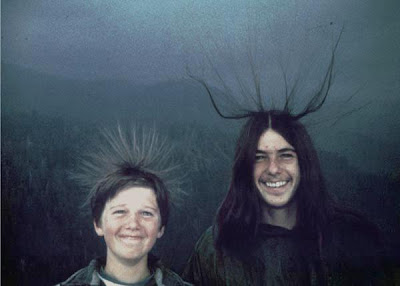 TWO BROTHERS POSE FOR A PHOTO BEFORE GETTING STRUCK BY LIGHTNING