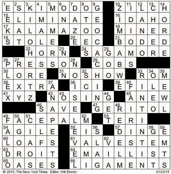 Click on image to enlarge  sc 1 st  The New York Times Crossword in Gothic & The New York Times Crossword in Gothic: January 2015 25forcollege.com