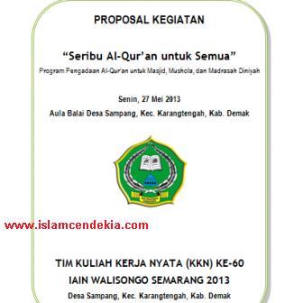 Contoh Lengkap Proposal Pengajuan Al Quran