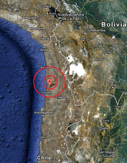 antofagasta, chile earthquake 2013 April 28