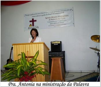 Fundadora da IGREJA MISSÃO EVANGÉLICA A PALAVRA DA CRUZ