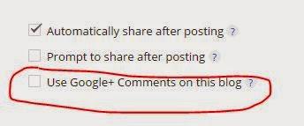 lepas centang komentar google plus