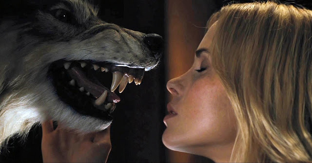 Making out with a wolf in The Cabin in the Woods