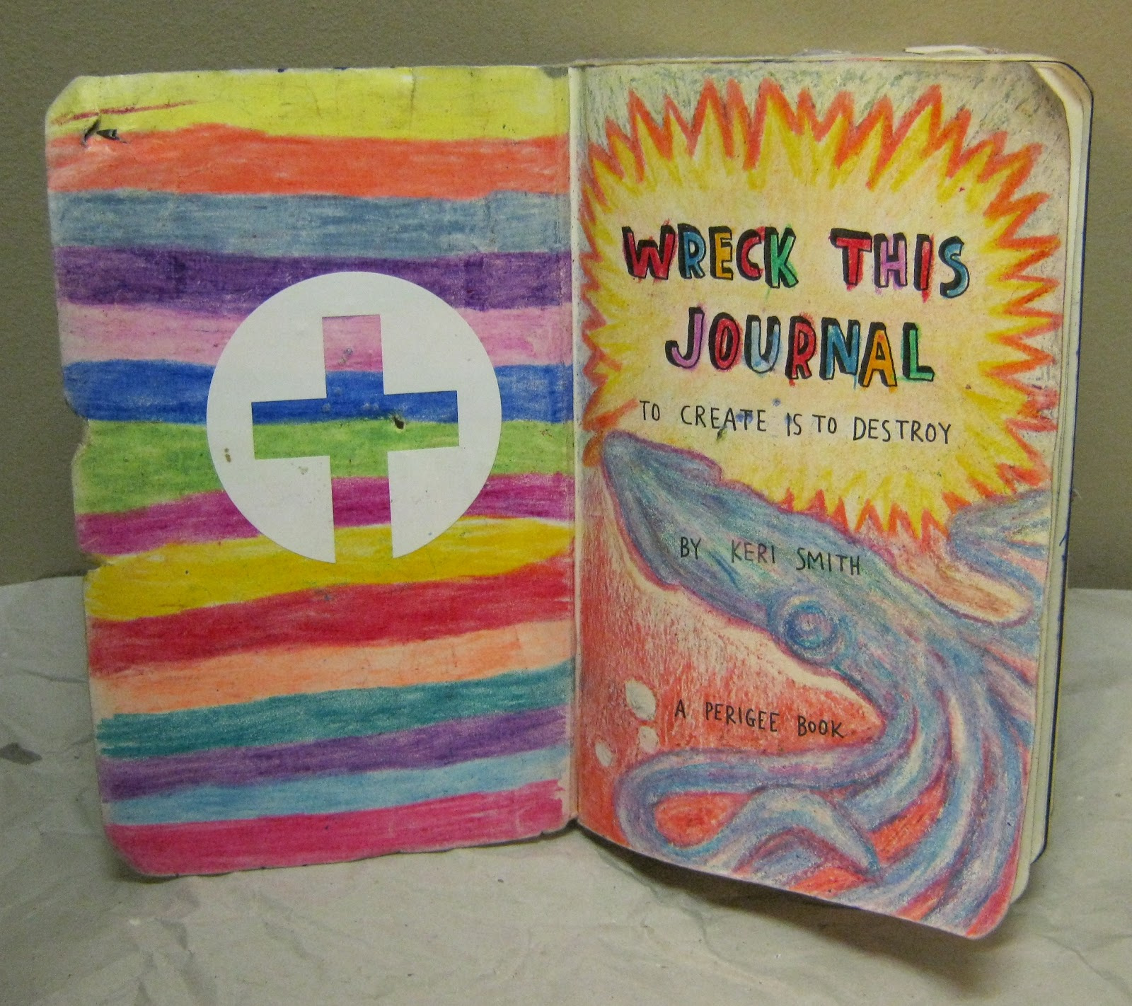 Wreck This Journal Book Cover Ideas : Trina is artsy fartsy wreck this journal