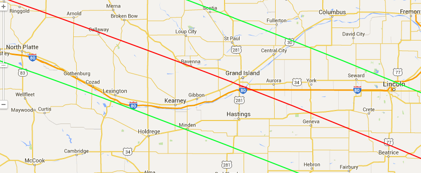 EclipseChasers: Pre-Eclipse 2017 Road Trip: I-80+ Neska on route 78 map, mass pike map, interstate 20 map, i-10 map, i-40 map, i-580 map, i-69 map, interstate 10 map, i-270 map, i-64 map, i-94 map, interstate 40 map, i-595 map,