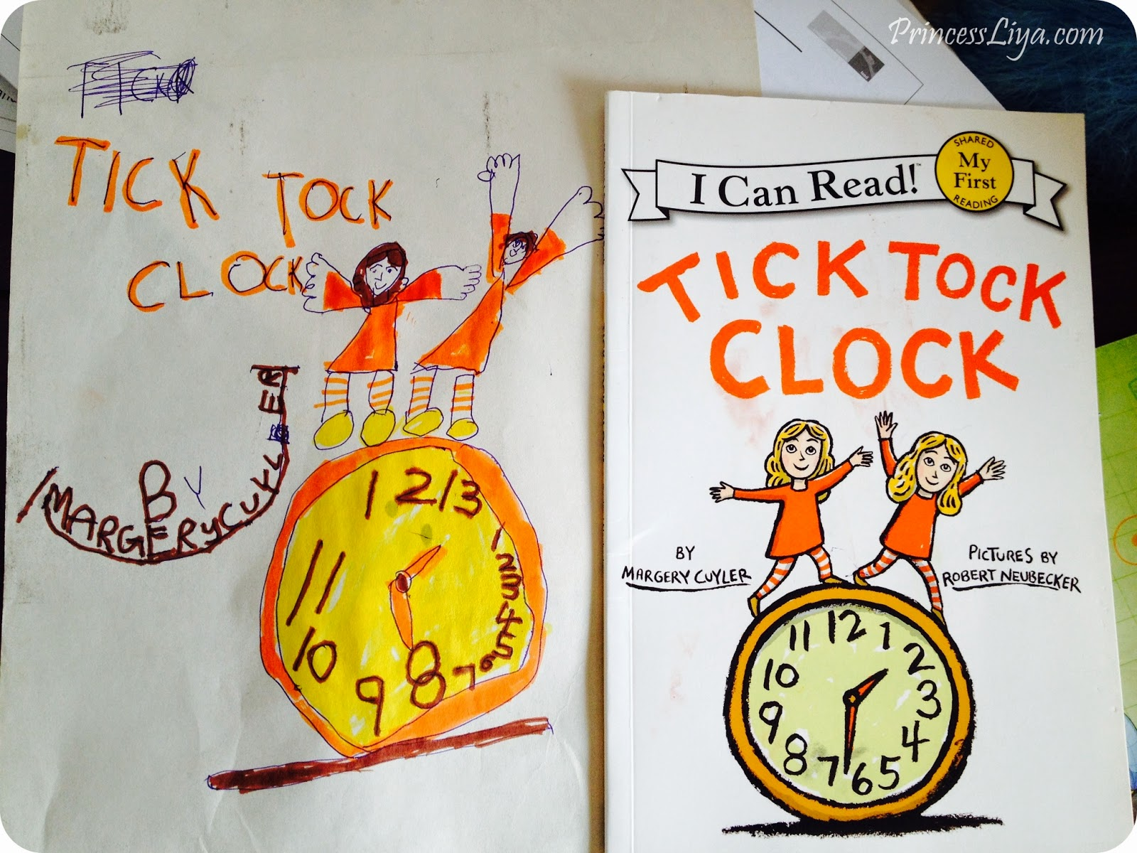tick tock clock by margery coyler illustration