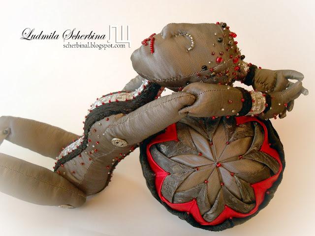 текстильная шарнирная кукла боги Коста-Рики