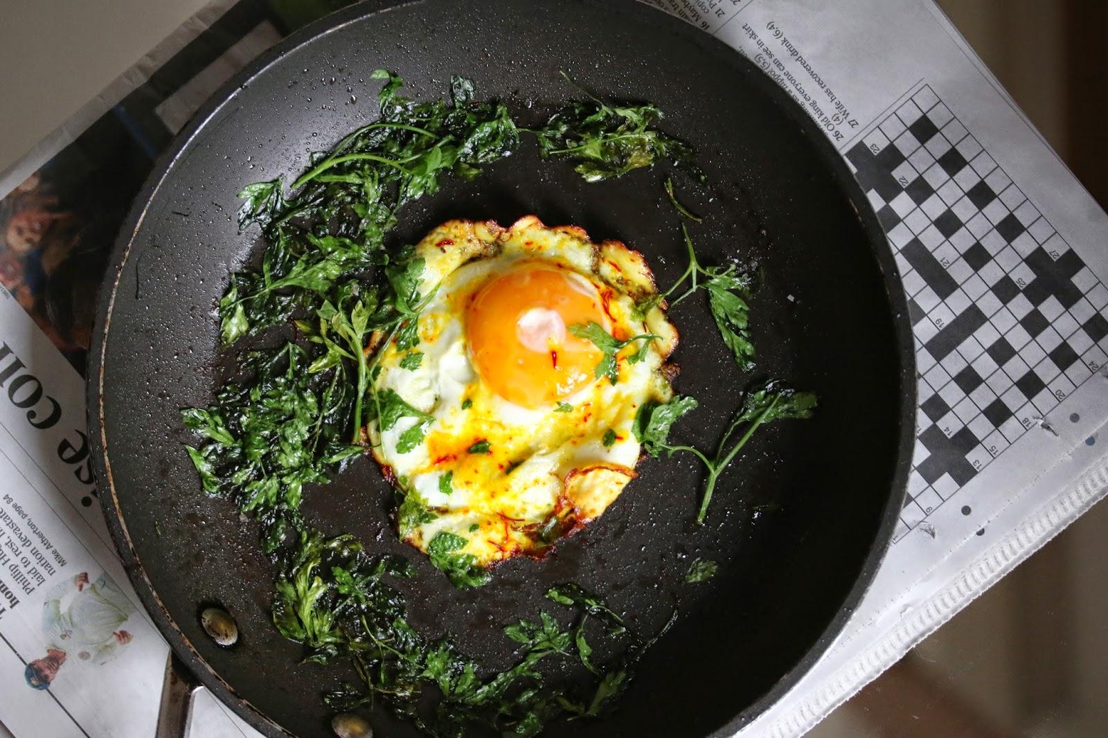 Saffron Fried Eggs