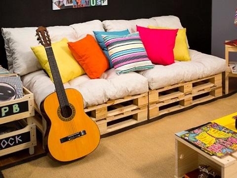 Inspiração: decore sua casa com móveis feito de paletes