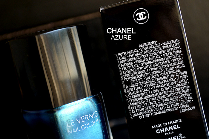 Chanel Le Vernis Nail Polish Azure 657 Lete Papillon De Chanel Summer 2013 Makeup Collection Photos Swatches Review NOTD Indian Darker Skin Beauty Blog Ingredients