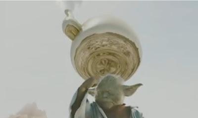 yoda en comercial de fideos ramen cup