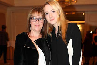 Actress Saoirse Ronan with her mother Monica at a recent Dublin fashion show.