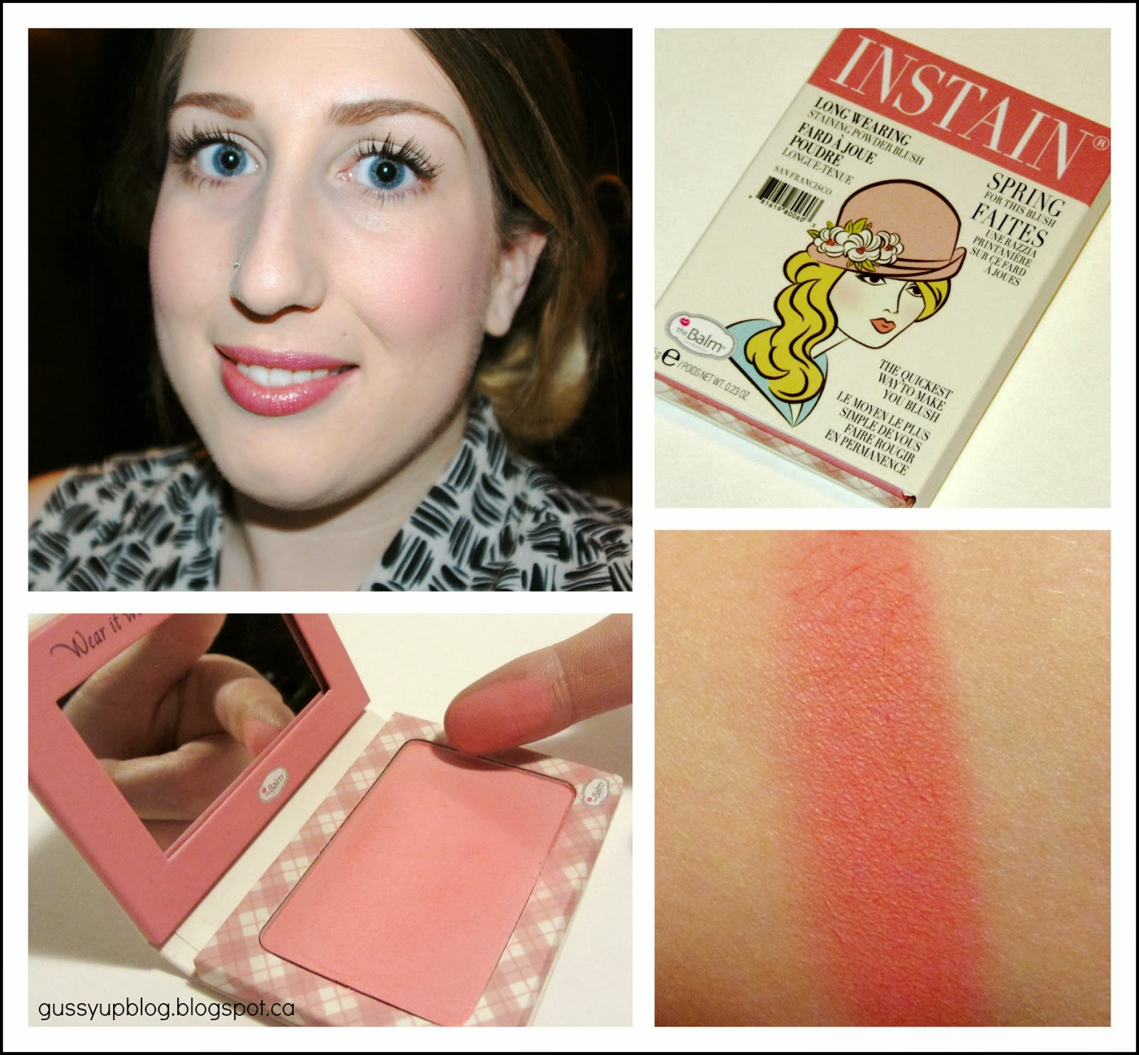 Review and Swatch: theBalm Instain Long-Wearing Powder Staining Blush, Argyle