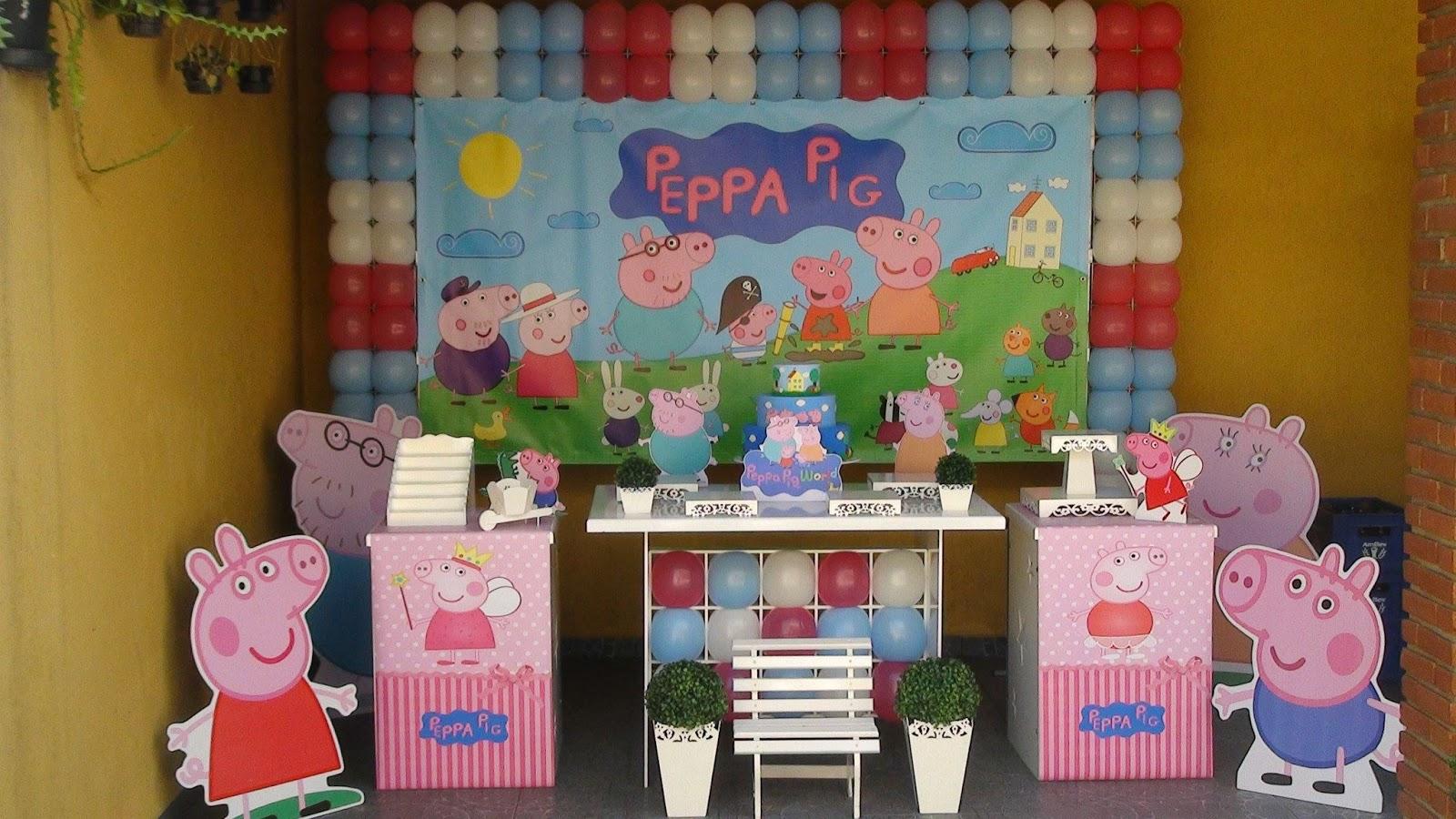 Decoração de Festa Infantil Peppa Pig no Tatuapé  Decoracao Clean