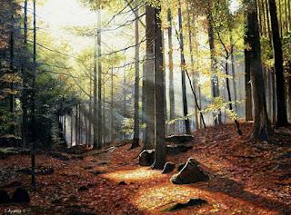 Bosques con Callejones Pinturas