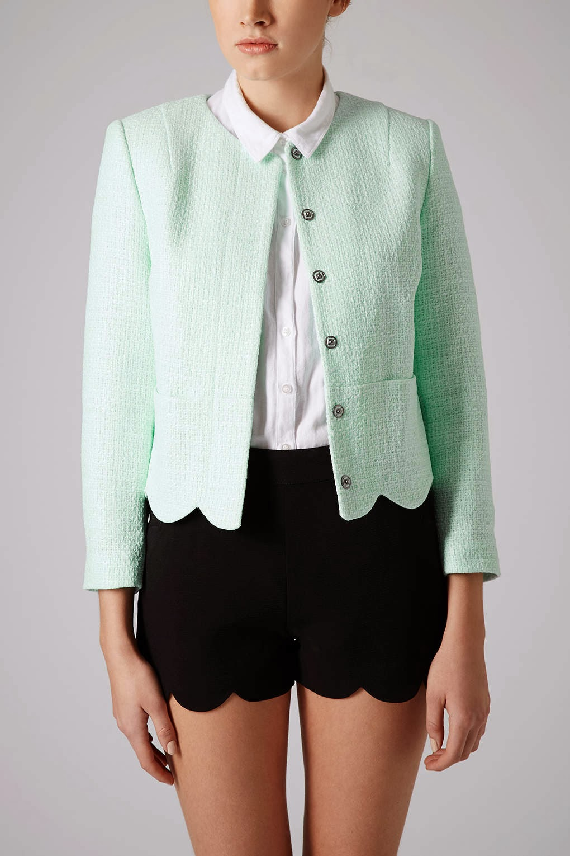 topshop light green jacket