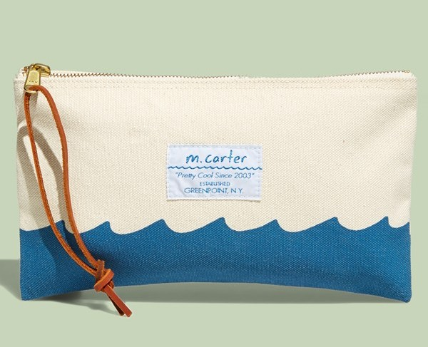 M Carter sturdy canvas wave pouch best summer clutches