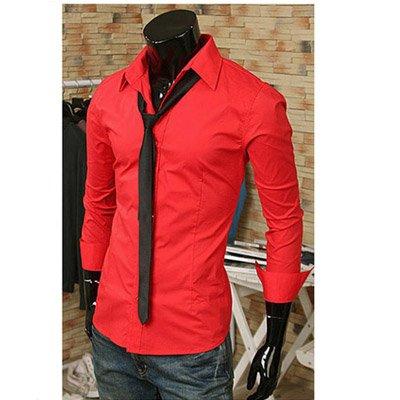 Mens Red Dress Shirt