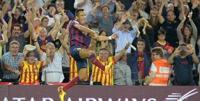 Alexis Sanchez (Barcelona FC) - Inidia 10 Striker Paling Mematikan di Eropa Sejauh Ini