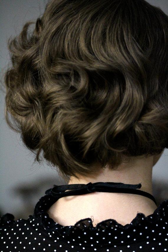 Vintage Velvet Ribbon Necklace #vintage #pincurl #1930 #romantic #womens #jewelry