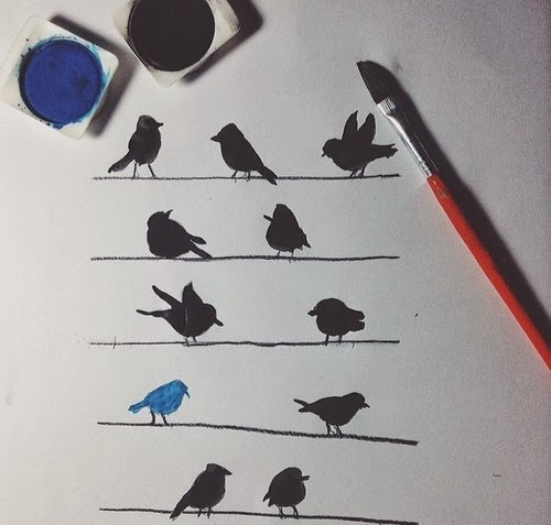 yoksa hanselle gratelin ekmek parçalarını kuşlar mı yedi? telgrafın tellerine konan kuşlar.