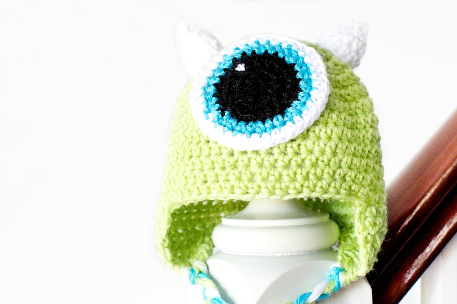 Monsters Inc. Mike Wazowski Inspired Baby Hat Crochet Pattern ...