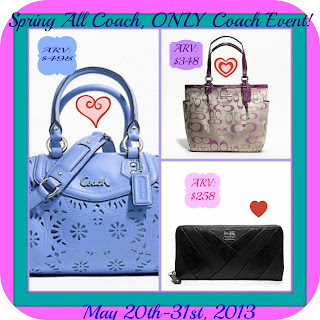 Enter to win one of three Coach bags, ends May 31st