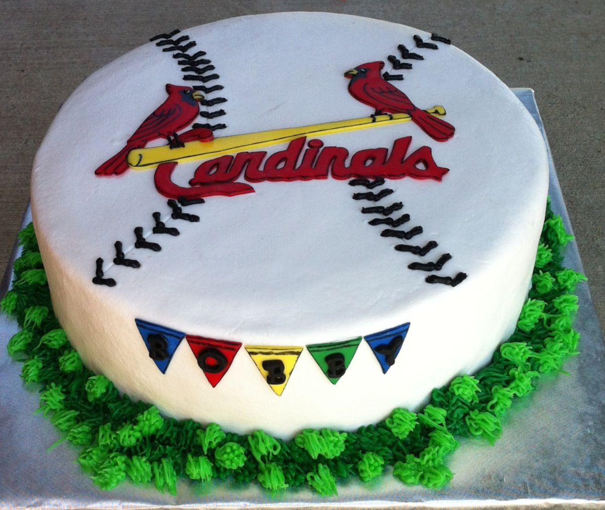 Cake Dreams St Louis Cardinals Birthday Cake
