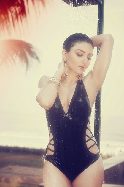 Soha Ali Khan in hot black bikini in Maxim Magazine