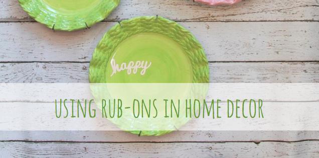 #homedecor #plates #rubons