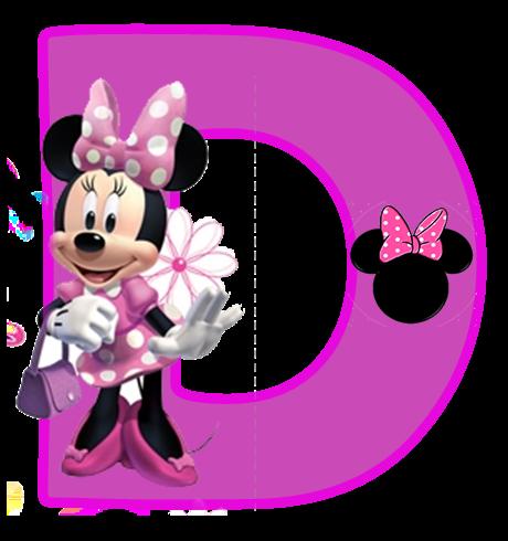 Alfabeto Púrpura de Minnie. | Oh my Alfabetos!
