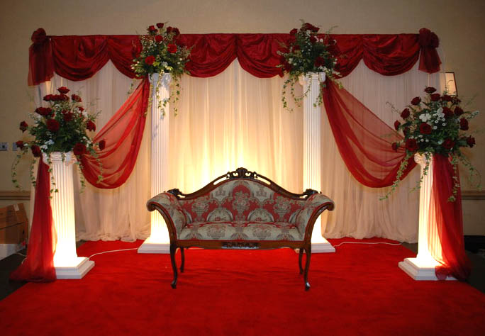 Indian wedding stage decorations pictures