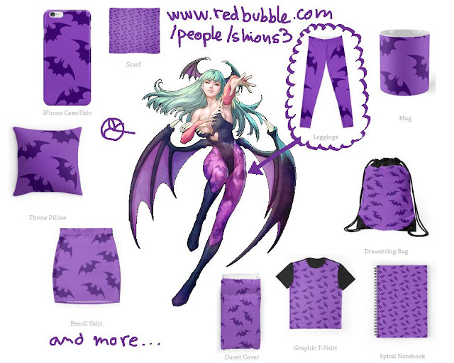 http://www.redbubble.com/people/shions3/works/18602440-morrigan-darkstalkers-tights-print?c=460154-cosplay-prints