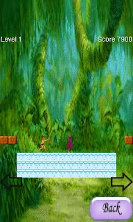 Screenshots of the Tarzan in jungle for java mobile, phone.